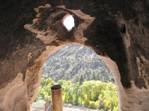 View from a Frijoles Canyon cave room
