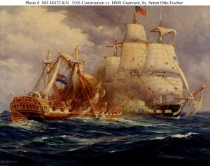 Action between USS Constitution and HMS Guerriere, August 19, 1812