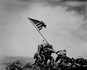 U.S. Marines Raising the Flag on Mt. Suribachi