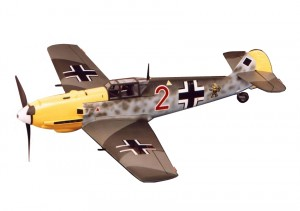 Catalog Image of Bf-109E with Swastika Replaced by Diamond