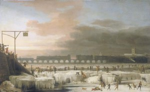 The Frozen Thames 1677