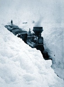 Train Stuck in Snow, Minnesota 1881