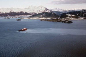 Exxon Valdez grounded on Bligh Reef